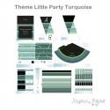 Little Party Turquoise kit décoration de fête