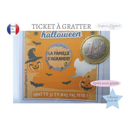 ticket à gratter annonce grossesse halloween