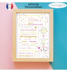 Marie aristochats Affiche anniversaire