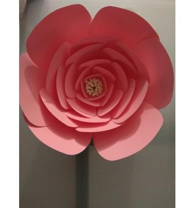 Fleur géante en papier modèle Armelle