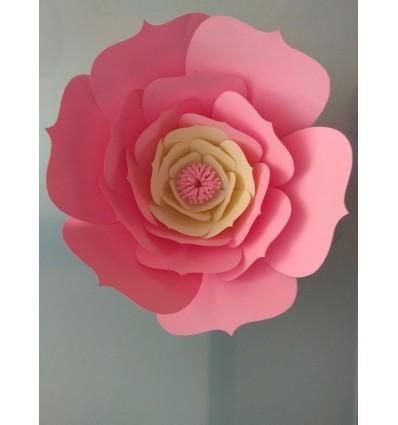 Tutoriel Realiser Une Fleur Geante En Papier Modele Armelle Diy