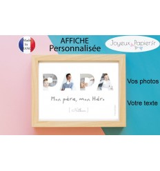 Affiche personnalisée pèle mèle photo PAPA