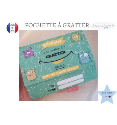 Pochette cadeau cartes à gratter annonce grossesse originale