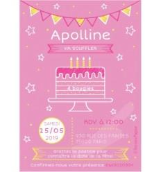 Carte à gratter invitation anniversaire gâteau