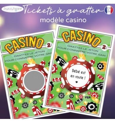 Ticket à gratter grossesse casino