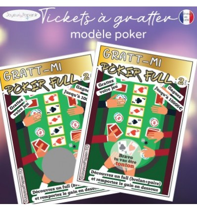 ticket à gratter grossesse poker jeu de cartes
