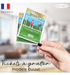 Ticket à gratter annonce grossesse modèle mini but