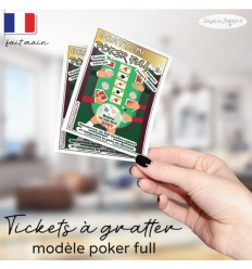 Carte à gratter annonce grossesse originale poker