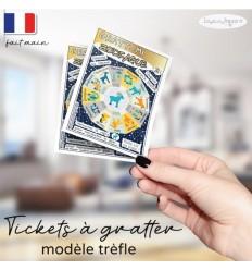 Ticket Carte à gratter annonce grossesse modèle zodiaque