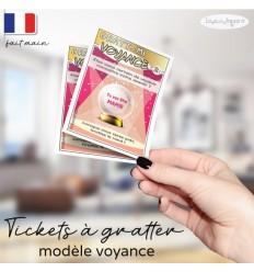 Ticket Carte à gratter annonce grossesse modèle voyance