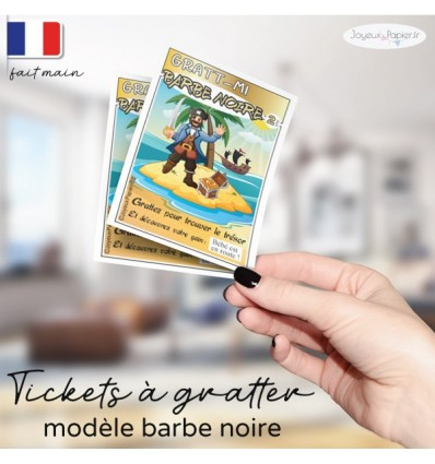carte a gratter grossesse pirate barbe noire