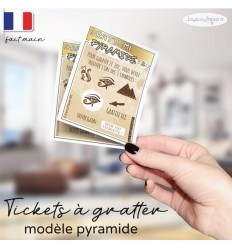 Ticket à gratter grossesse pyramide