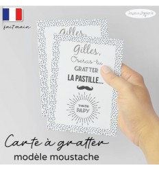 Carte à gratter Tu vas être Papa / Papy.. modèle moustache