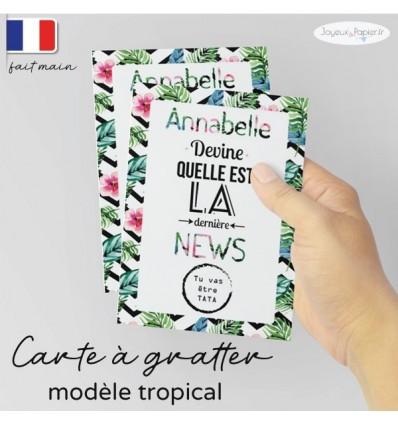 Carte a gratter tu vas etre Tata / Mamie tropical
