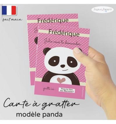 Carte a gratter demande parrain marraine panda