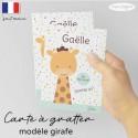 Carte a gratter demande parrain marraine girafe