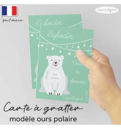 Carte a gratter demande parrain marraine ours polaire
