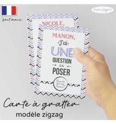 Carte à gratter demande témoin modèle ZigZag