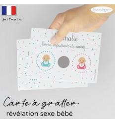 Carte à gratter annonce sexe bébé modèle baby surprise