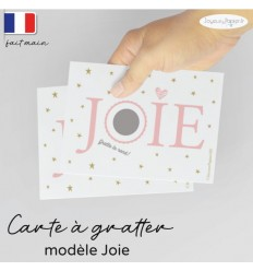 Carte à gratter annonce grossesse modèle joie