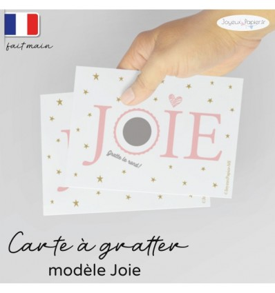 Carte a gratter annonce grossesse joie
