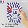 Carte invitation foot anniversaire