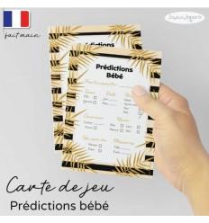 Carte prédictions bébé pêche black
