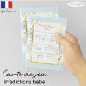 Carte prédictions bébé bleu doux pop
