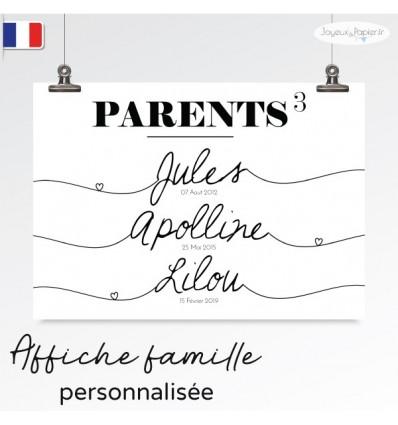 Affiche famille minimaliste PARENTS