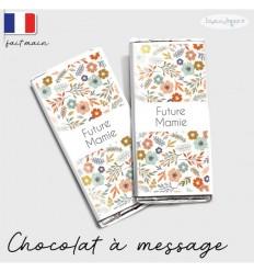 Etui tablette chocolat annonce grossesse modèle flowers