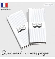 Etui tablette chocolat annonce grossesse moustache