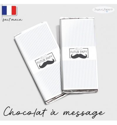 chocolat personnalisé annonce grossesse moustache