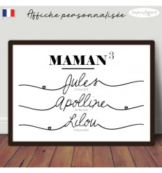Affiche famille minimaliste MAMAN