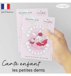 Carte Quenottes les petites dents de bébé personnalisée lapin souris