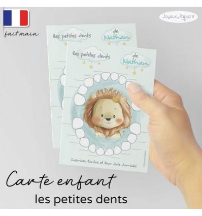 Carte Quenottes les petites dents de bébé lion