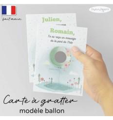 Carte à gratter parrain modèle ballon