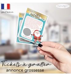 Ticket carte à gratter annonce grossesse noël