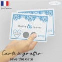 Carte à gratter save the date mariage