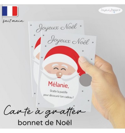 Carte à gratter cadeau surprise noel