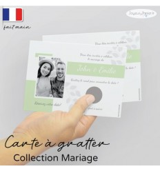 Carte à gratter Save the date mariage 01