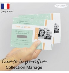 Carte à gratter Save the date mariage 02