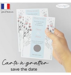 Carte à gratter Save the date mariage 03
