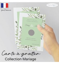 Carte à gratter Save the date mariage 04