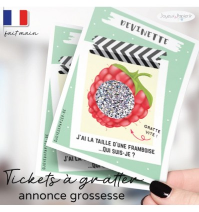 annonce grossesse a gratter