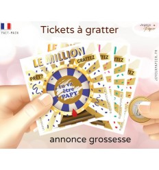 annonce grossesse originale carte à gratter le million