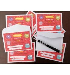 Mini enveloppe pour carte à gratter