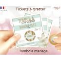 Ticket tombola carte à gratter mariage personnalisé