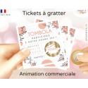 Ticket tombola carte à gratter commerciale personnalisée