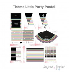 Little Party pastel kit décoration de fête