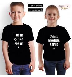 T-shirt enfant future grande sœur / grand frère